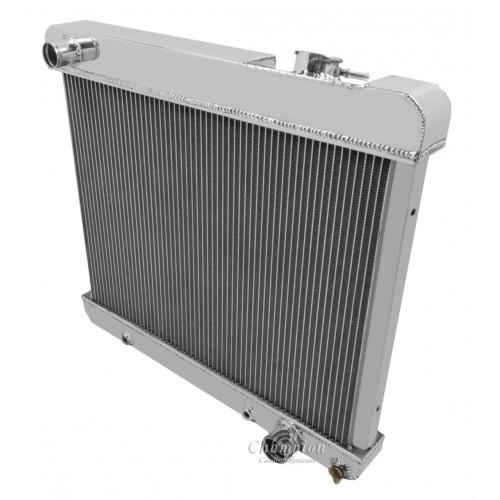 "Champion 3 Row Aluminum Radiator W// 2 12/"" Fans for 1961-1963 Pontiac Tempest"