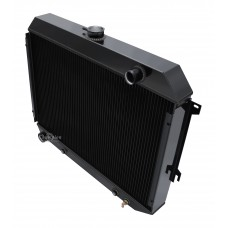 1970 - 1973 Plymouth Barracuda Black Finish Aluminum Radiator